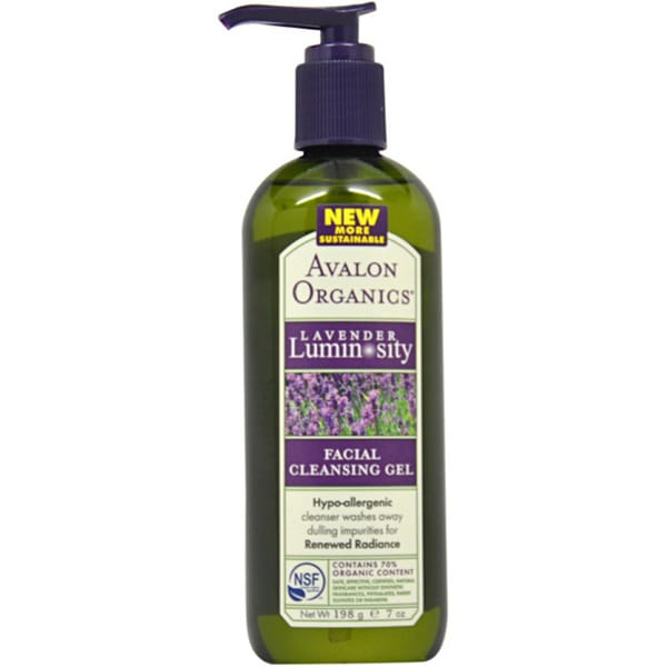 Avalon Organics Lavender Luminosity 7-ounce Facial Cleansing Gel