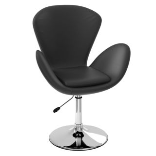 CorLiving Abrosia Black Leatherette Petal Chair
