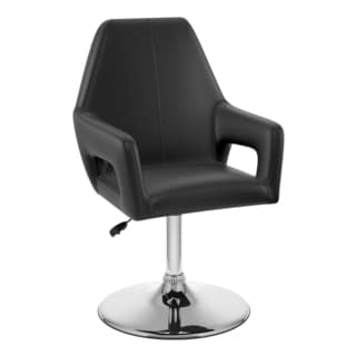 CorLiving Abrosia Black Leatherette Executive Chair