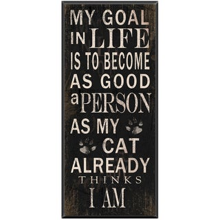 'My Goal' Ready-to-Hang Wood Pet Plaque