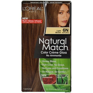 L'Oreal Paris Natural Match 6N Light Brown Hair Color ( 1 Application)