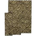 "Animal Print Leopard Black 3-piece Rug Set (5'X7', 22""X5', 20''x31'')"
