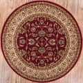 Ariana Palace Red Round Rug (7'10)