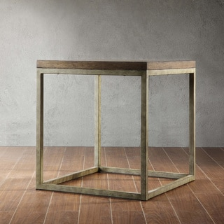 TRIBECCA HOME Somme Rustic Oak End Table