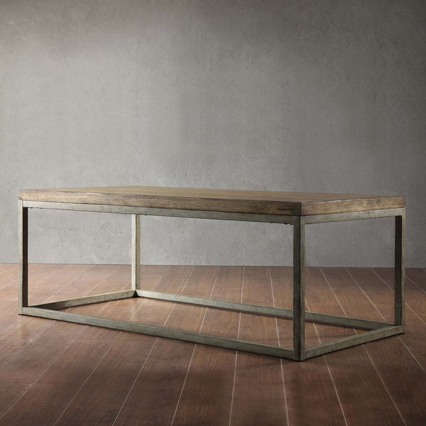 TRIBECCA HOME Somme Distressed Oak Cocktail Table