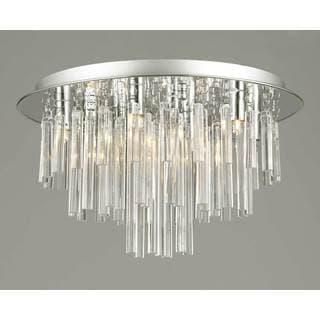 Gallery Flush 9-light Crystal Chandelier