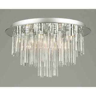 Gallery Flush 9-light Crystal Chandelier