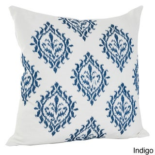 Embroidered Medallion Design Cotton Decorative Throw Pillow