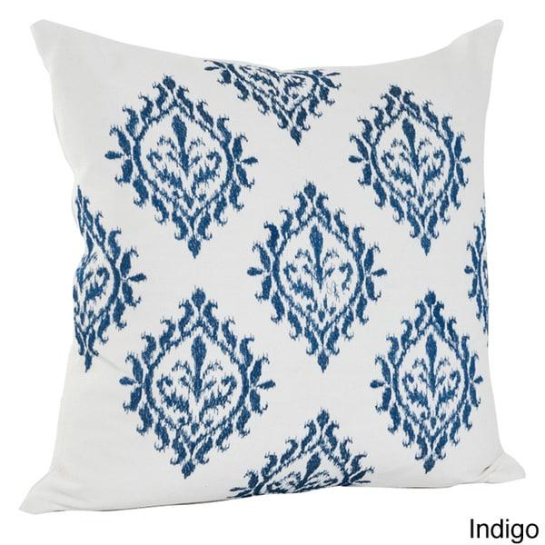 Embroidered Medallion Design Cotton Decorative Throw Pillow