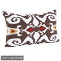 Ikat Designs Cotton Decorative Throw Pillow