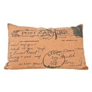 Printed Postcard Design Polyester Decorative Throw Pillow