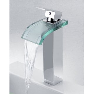 Elite '8866C' 3-color LED Light Single Lever Vessel Sink Faucet