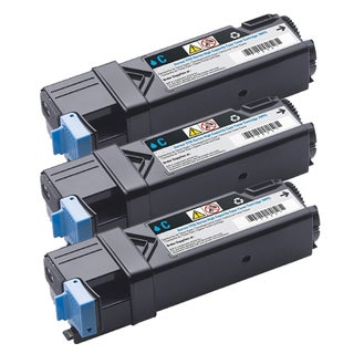 Dell 2150/ 2155 Compatible Cyan Toner Cartridge (Pack of 3)