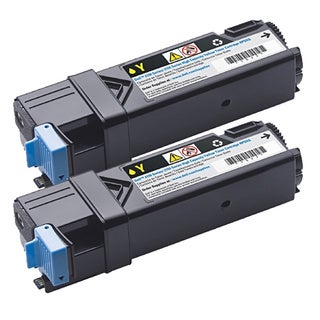 Dell 2150/ 2155 Compatible Yellow Toner Cartridge (Pack of 2)