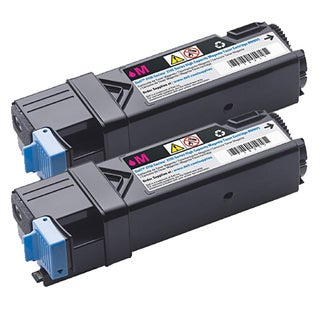 Dell 2150/ 2155 Compatible Magenta Toner Cartridge (Pack of 2)