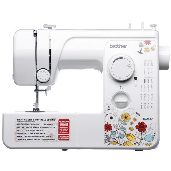 Brother Xl 5500 Price >> Brother JX2517 Sewing Machine (Refurbished) - Overstock Shopping - Big Discounts on Brother ...