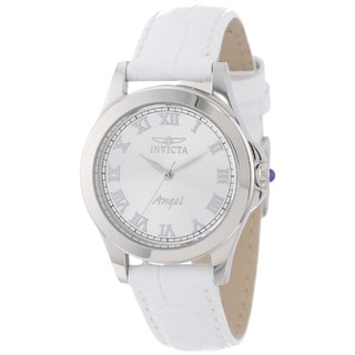 Invicta Women's 'Angel' Stainless Steel White Quartz Watch