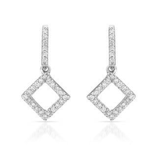14k White Gold 1/5ct TDW Diamond Earrings (H-I, SI1-SI2)