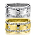 14k White or Yellow Gold 1ct TDW Machine-set Diamond Wedding Band (H-I, I1-I2)