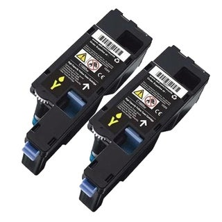 Dell C1660 (332-0402, XY7N4) Yellow Compatible Toner Cartridges (Pack of 2)