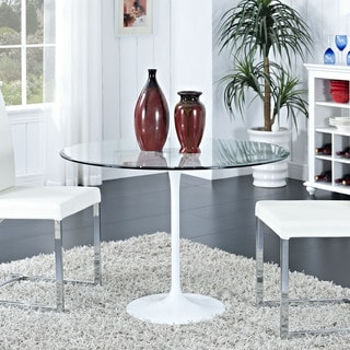 Circuit Aluminum and Clear Glass Dining Table