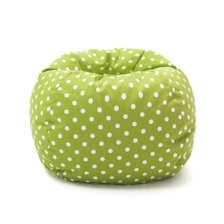 BeanSack Green Polka Dot Bean Bag Chair