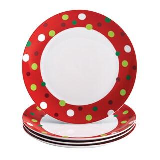 Rachael Ray Dinnerware 'Hoot's Decorated Tree' 4-piece Dinner Plate Set