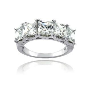 Icz Stonez Sterling Silver 1 1/5ct TGW Cubic Zirconia Half Eternity Ring