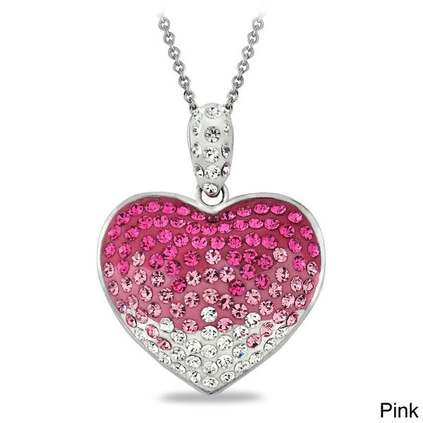 Crystal Ice Crystal Heart Necklace With Swarovski Elements Free
