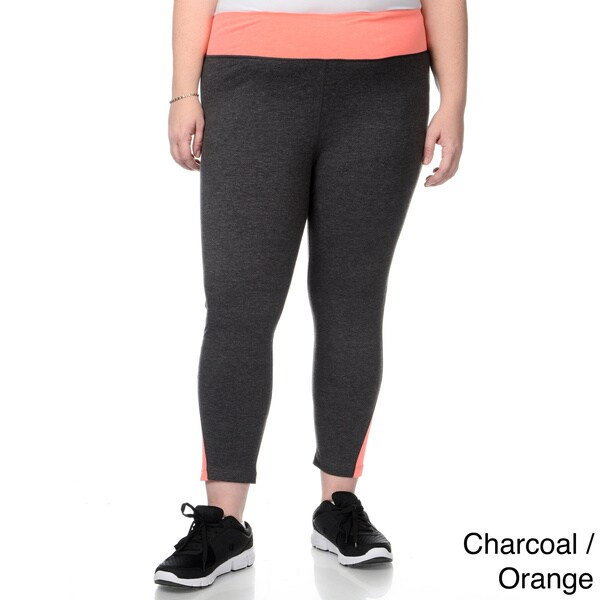 90 degree by reflex women s plus size zip pocket waistline yoga capri