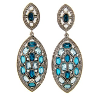 Meredith Leigh Sterling Silver Blue Topaz Dangle Earrings