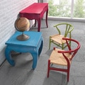 Child-size 'Grant' Red and Natural Wicker Chairs (Set of 2)