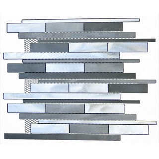 mixed aluminum rectangular strip wall tiles