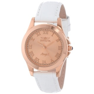 Invicta Women's 'Angel' 18k Rose Gold-Plated Stainless Steel Quartz Watch