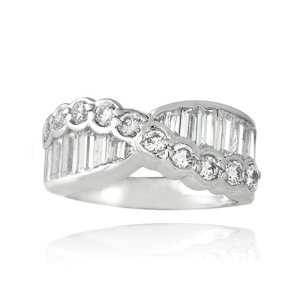 ICZ Stonez Sterling Silver 3 1/3ct TGW Cubic Zirconia Eternity Ring