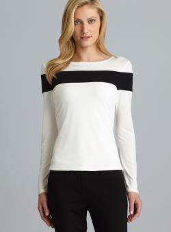 Calvin Klein Long Sleeve Colorblock Top