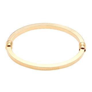 18k Gold over Bronze Bangle Bracelet