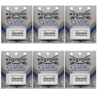 Wilkinson Sword Classic 5-count Double Edge Blades (Pack of 6)