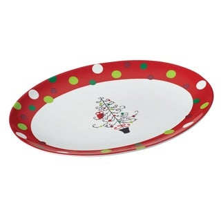 Rachael Ray 'Hoots' Decorated Tree Oval Platter