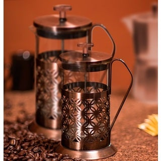 Ovente FSF34C Flower Stainless Steel French Press Coffee Maker