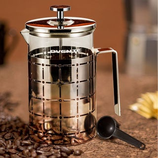 Ovente Stainless Steel 27-ounce French Press