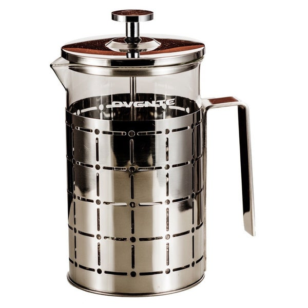 Ovente Stainless Steel 27-ounce French Press 12226260