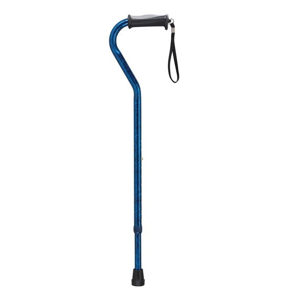 Adjustable Height Offset Handle Cane with Gel Hand Grip