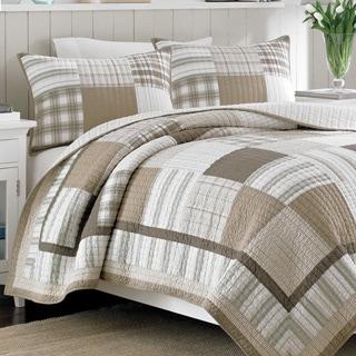 Nautica Oakhurst Yarndye Cotton Reversible Quilt and Sham Separates