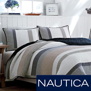 Nautica Hayward Cotton Reversible Quilt and Sham Separates