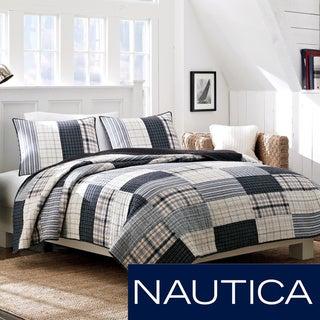Nautica Longview Cotton Reversible Quilt and Sham Separates