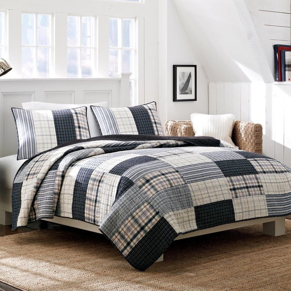 Nautica Longview Cotton Reversible Quilt and Sham Separates
