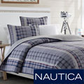 Nautica Tiller Cotton Reversible Quilt and Sham Separates