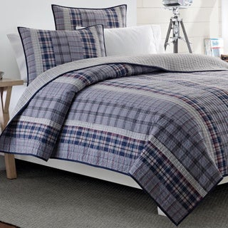 Nautica Tiller Cotton Reversible Quilt and Sham Seperates