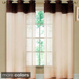 Eastgate 84-inch Pleated Voile Grommet Curtain Panel